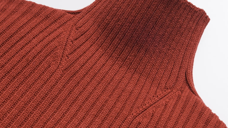 ダブルユーブイプロジェクト(WV PROJECT)  Peanut Butter Turtleneck Knit Red Brown CJKN7434