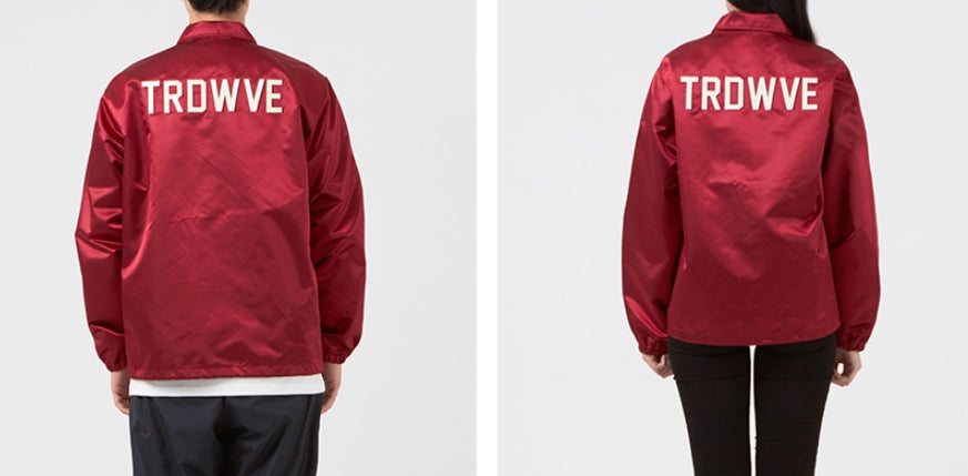 サードウェーブ(3RD WEAVE )  PRP SATIN COACH JACKET / VARSITY RED