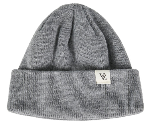 VARZAR(バザール) Monogram label beanie grey