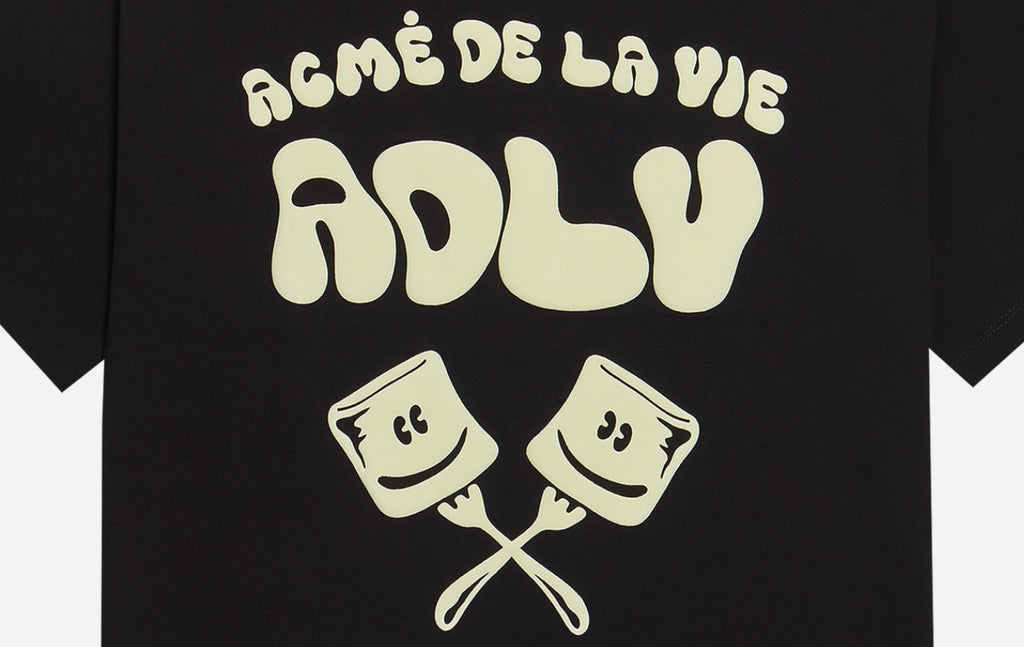 アクメドラビ(acme' de la vie) ADLV MARSHMALLOW SHORT SLEEVE T-SHIRT BLACK