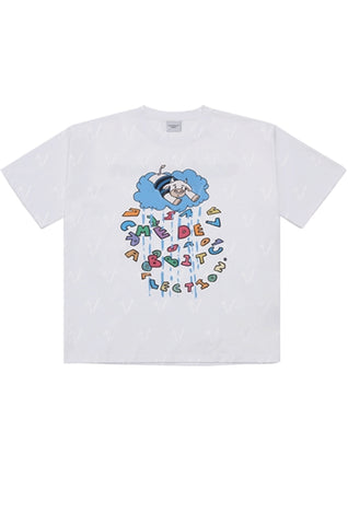 アクメドラビ(acme' de la vie) COW SHORT SLEEVE T-SHIRT WHITE