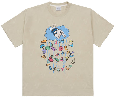 アクメドラビ(acme' de la vie) COW SHORT SLEEVE T-SHIRT IVORY