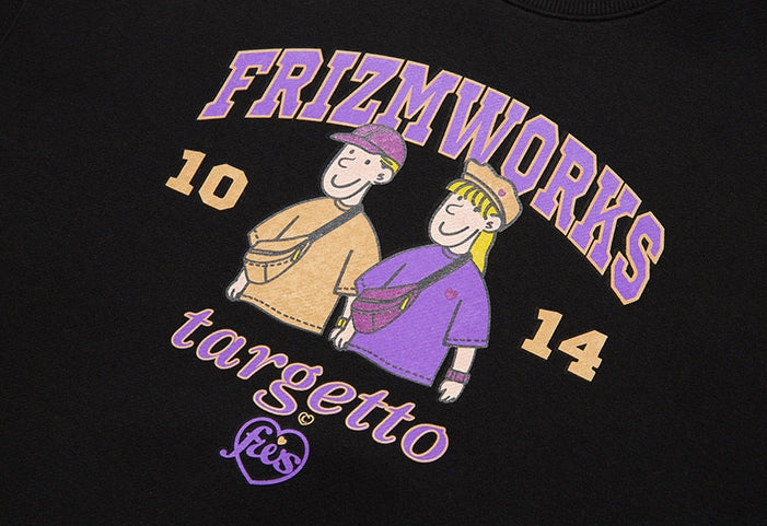TARGETTO(ターゲット)  [FRIZMWORKS X TGT]COUPLE GRAPHIC SWEAT SHIRT_BLACK