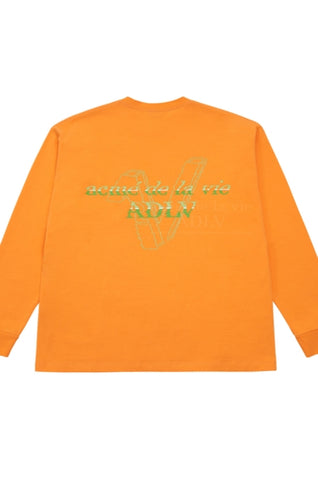 アクメドラビ(acme' de la vie)  FAKE LOGO LONG SLEEVE T-SHIRT ORANGE