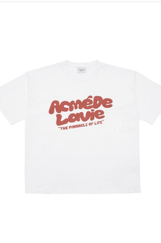 アクメドラビ(acme' de la vie)  BUBBLE LOGO SHORT SLEEVE T-SHIRT WHITE