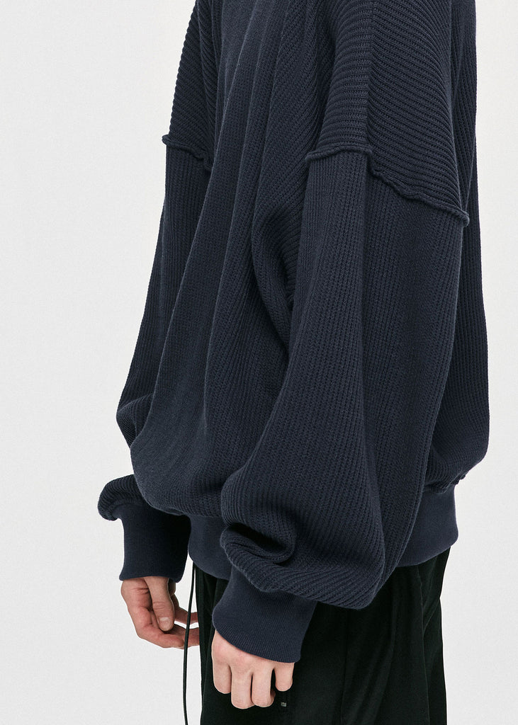 ディープリーク(DPRIQUE) OVERSIZED SWEATER - NAVY