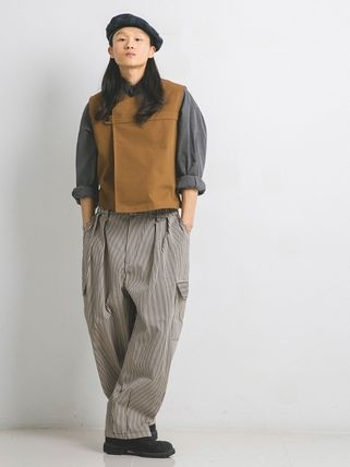 ANGLAN(アングラン) Stripe Work Balloon Pants