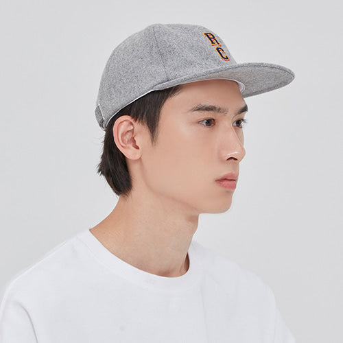 ロマンティッククラウン(ROMANTIC CROWN) RC LOGO WOOL BALL CAP_GREY