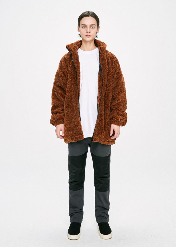 ディープリーク(DPRIQUE) OVERSIZED SHEARLING JACKET - BROWN
