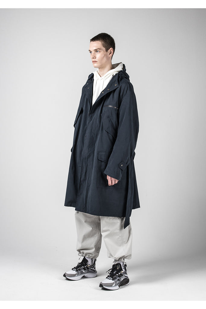 メスノウン(MASSNOUN) M-51 BELTED FISHTAIL COAT MFNCT001-NV