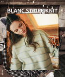 ダブルユーブイプロジェクト(WV PROJECT)BLANC STRIPE KNIT BEIGE MJKN7310