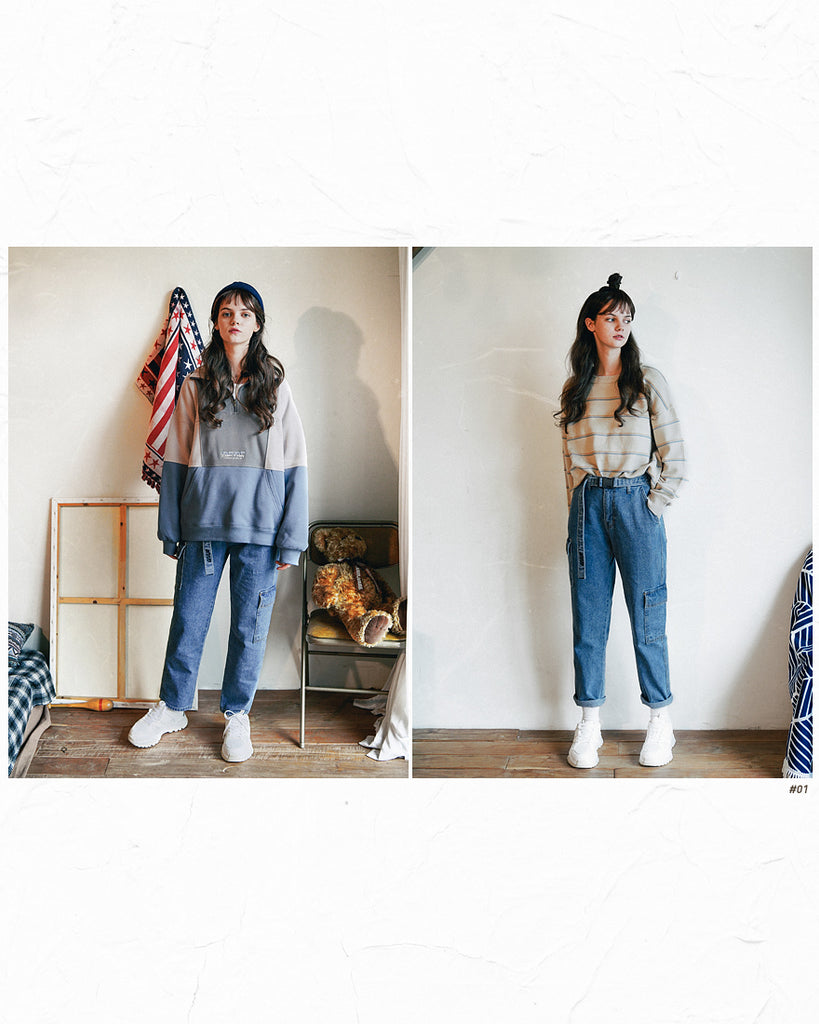 ダブルユーブイプロジェクト(WV PROJECT) FORWORK DENIM PANTS BLUE MJLP7315
