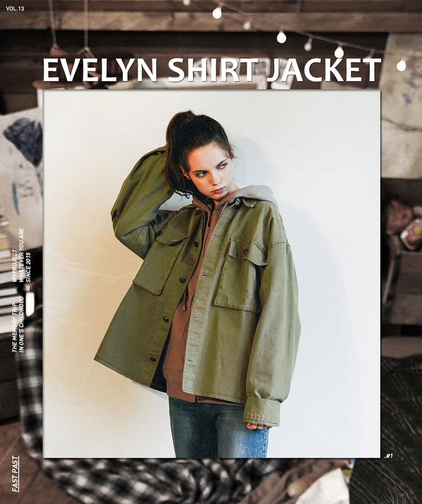 ダブルユーブイプロジェクト(WV PROJECT)EVELYN SHIRT JACKET KHAKI MJLS7308