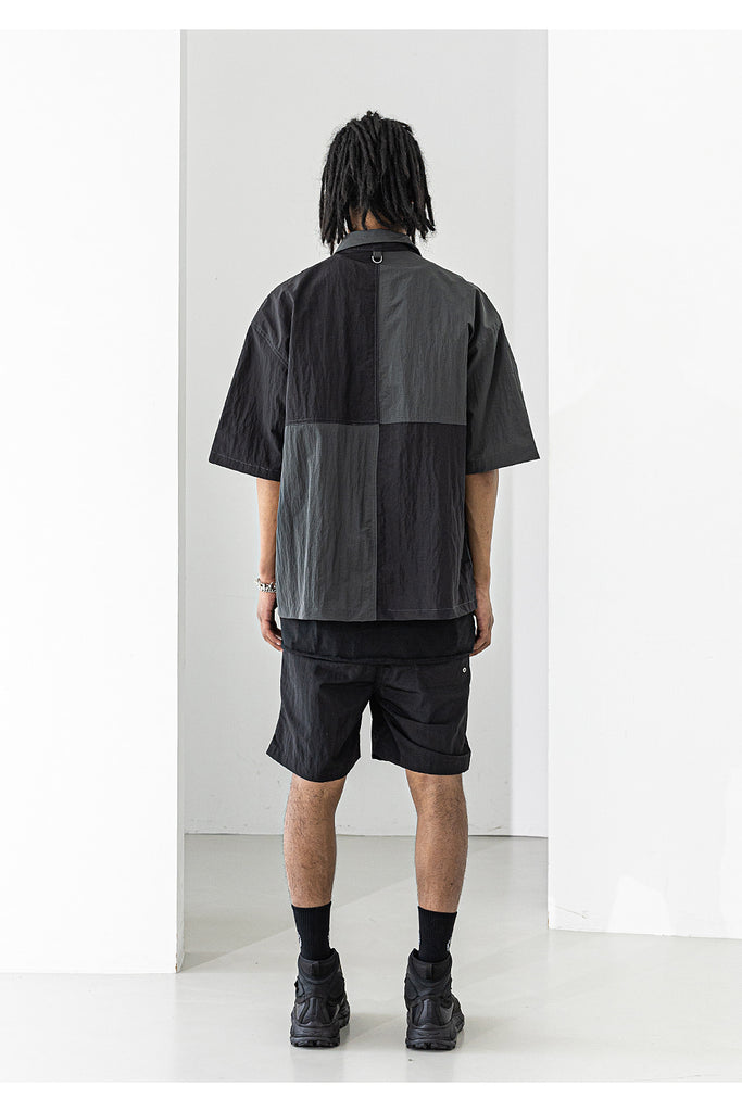 メスノウン(MASSNOUN) NYLON METAL SHORT PANTS MUZSP004-BK