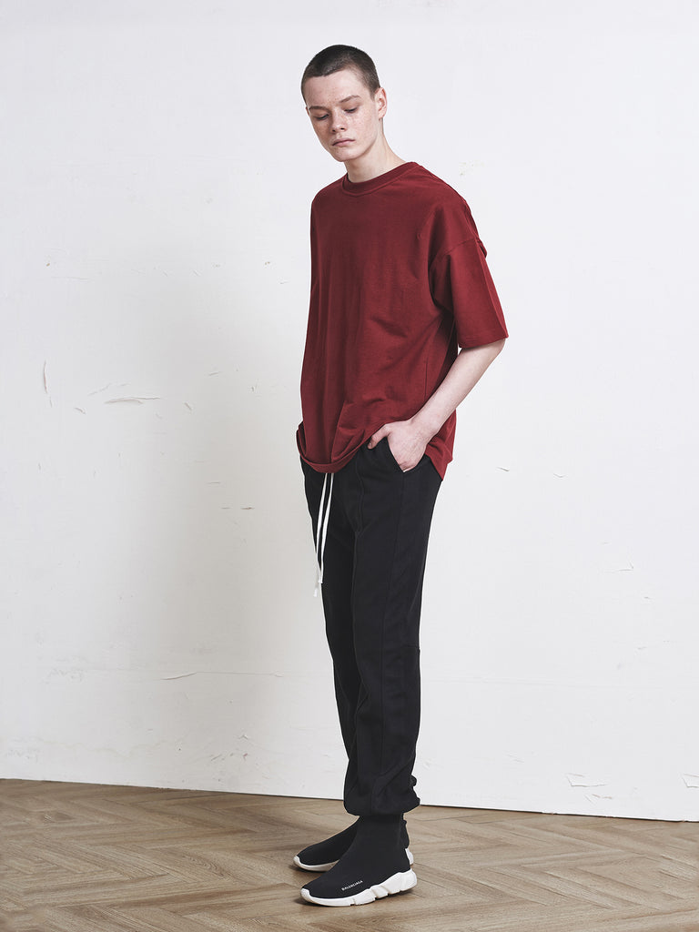 ディープリーク(DPRIQUE) OVERSIZED BASIC T-SHIRT - RED