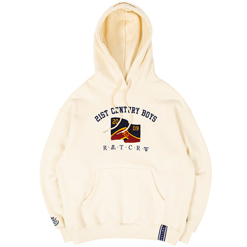 ロマンティッククラウン(ROMANTIC CROWN) 21C BOYS LOGO HOOD_OATMEAL