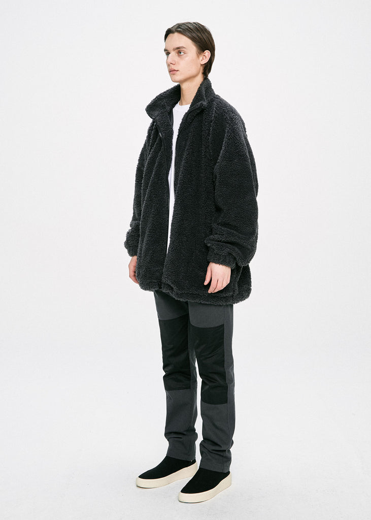 ディープリーク(DPRIQUE) OVERSIZED SHEARLING JACKET - GREY