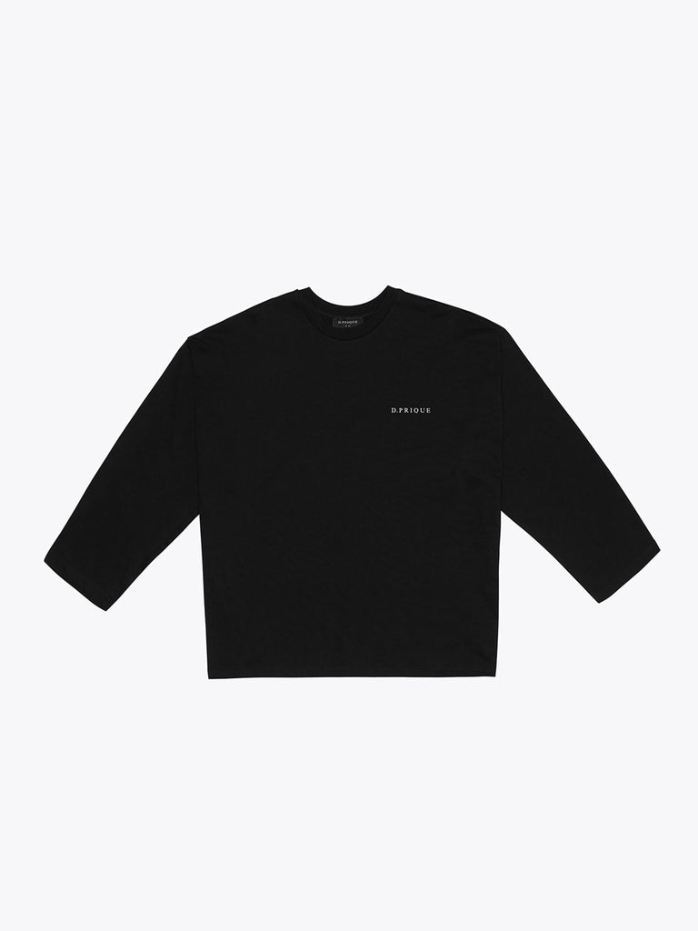 ディープリーク(DPRIQUE) OVERSIZED LONG SLEEVE T-SHIRT - BLACK