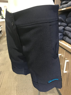 Shorts Fitted Navy Stretch