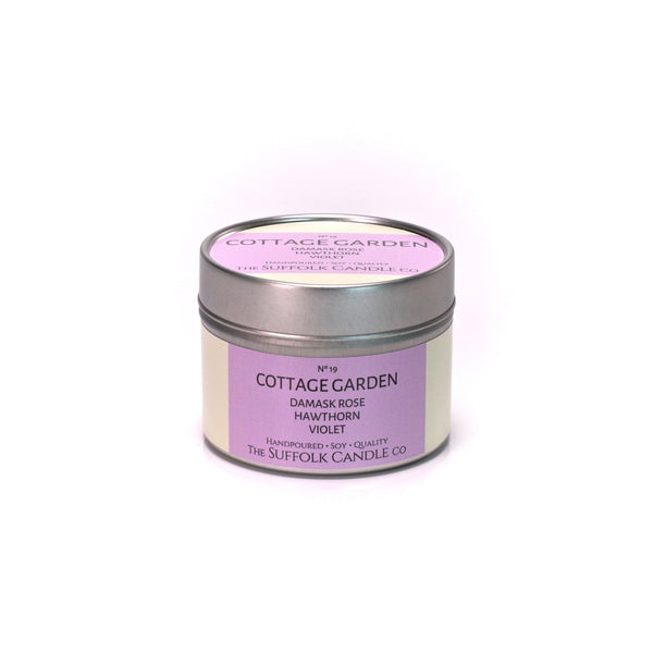 COTTAGE GARDEN - Damask Rose, Hawthorn and Violet - handmade soy candle - 100g