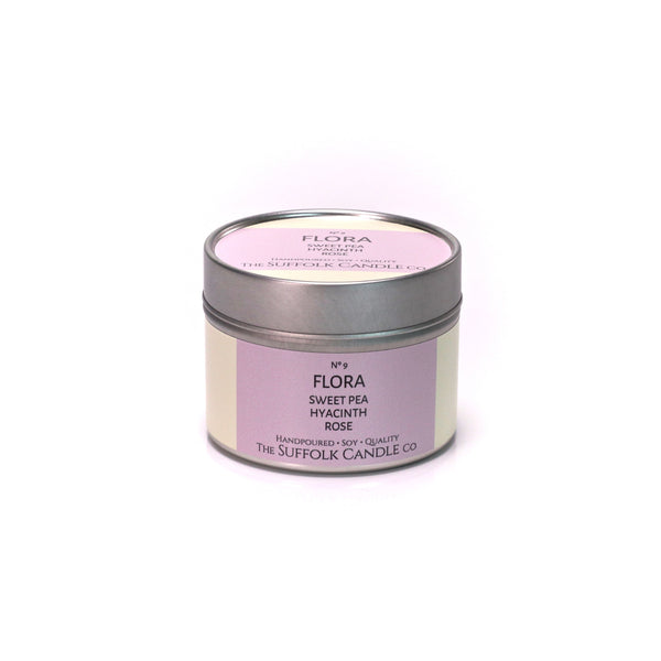 FLORA - Sweet Pea, Hyacinth and Rose - handmade soy candle - 100g