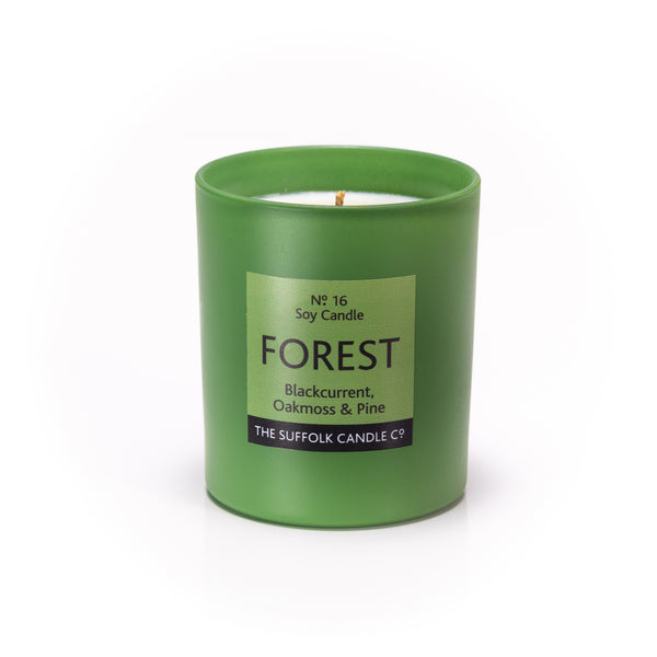 **LIMITED EDITION** FOREST - Blackcurrant, Oakmoss and Pine - handmade soy candle - 200g - green glass