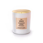 SPICE - Cedarwood, Jasmine and Patchouli - handmade soy candle - 200g - white glass