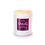 SNUG - Chestnut, Ginger and Vanilla - handmade soy candle - 200g - white glass