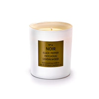 NOIR - Black Pepper, Patchouli and Sandalwood - handmade soy candle - 200g - white glass