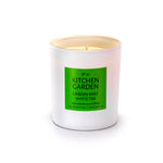 KITCHEN GARDEN - Garden Mint and White Tea - handmade soy candle - 200g - white glass