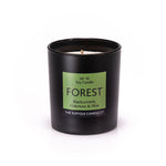 FOREST - Blackcurrant, Oakmoss and Pine - handmade soy candle - 200g - black glass