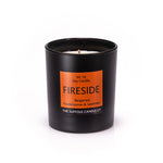 FIRESIDE - Bergamot, Frankincense and Lavender - handmade soy candle - 200g - black glass