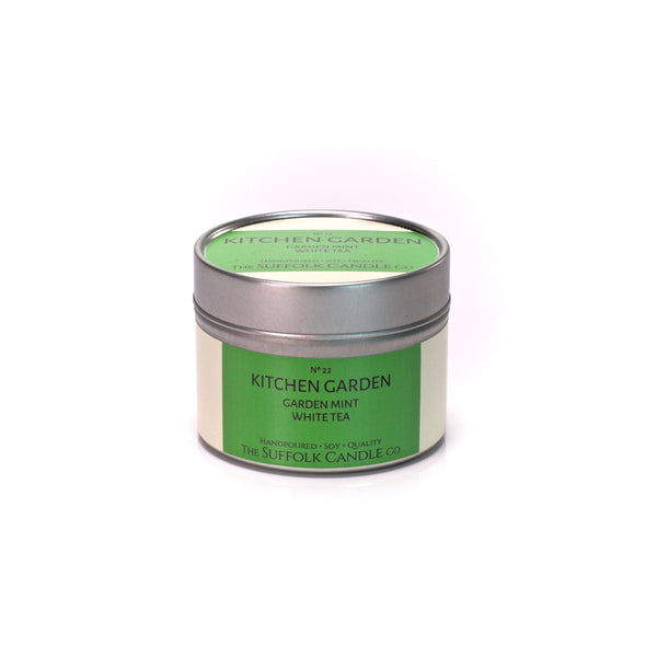 KITCHEN GARDEN - Garden Mint and White Tea - handmade soy candle - 100g