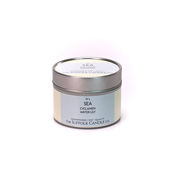 SEA - Cyclamen and Waterlily - handmade soy candle - 100g