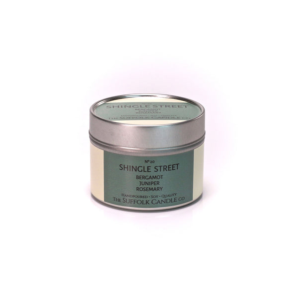 SHINGLE STREET - Bergamot, Juniper and Rosemary - handmade soy candle - 100g