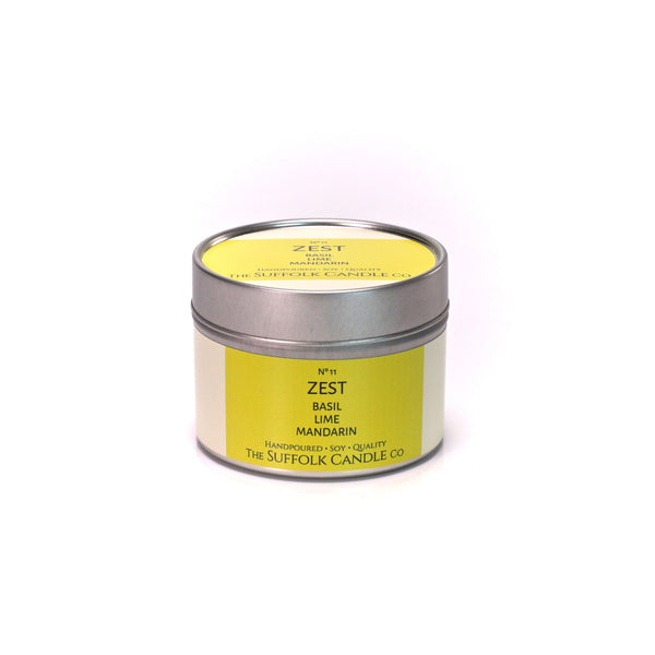 ZEST - Basil, Lime and Mandarin - handmade soy candle - 100g