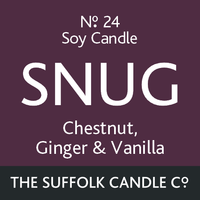 SNUG - Chestnut, Ginger and Vanilla - handmade soy candle - 100g