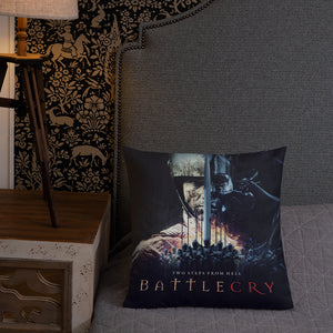 Battlecry Artwork Cushion Display