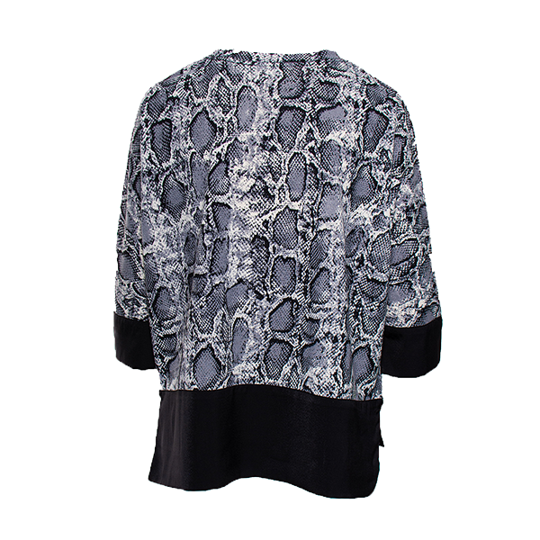 Woman's Loose fit Top | Abby Top with Python print