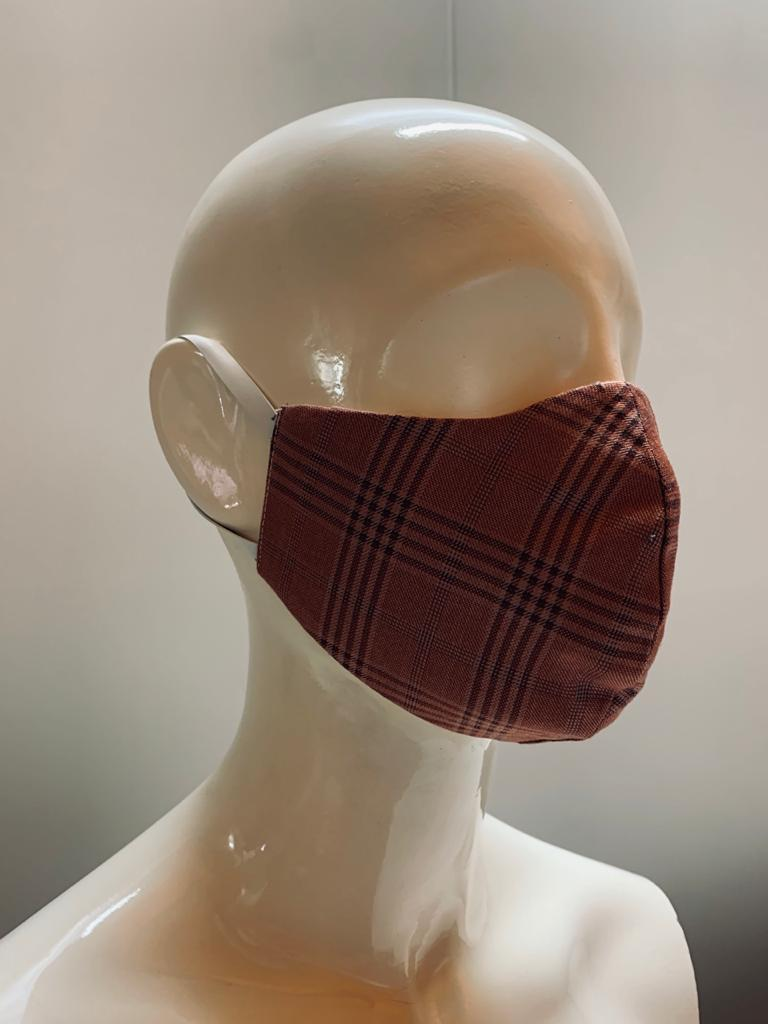 Check Fabric Face Mask