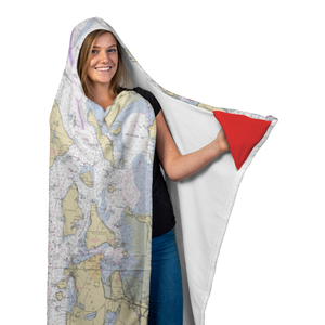 San Juan Islands Hooded Blanket