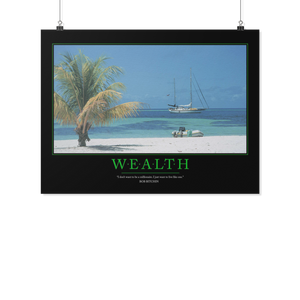 Wealth Motivational Poster