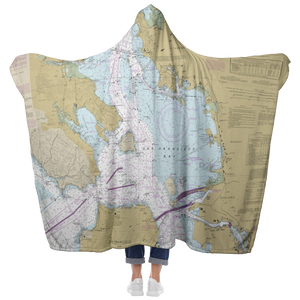 San Francisco Bay Hooded Blanket