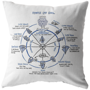 Points of Sail Pillow
