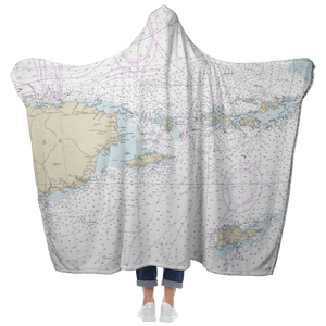 Puerto Rico-Virgin Islands Hooded Blanket