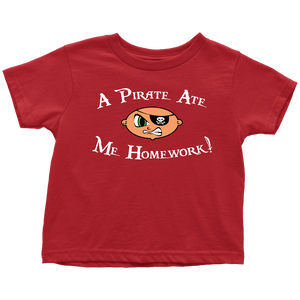 Pirate Ate Homework Toddler Tee