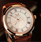 336 Men Trendy Leather Band Luminous Quartz Watch -SAINT PAULO MW336
