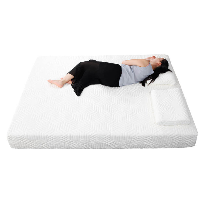 Two Layers Traditional Firm High Softness Cotton Mattress with 2 Pillows Full Size