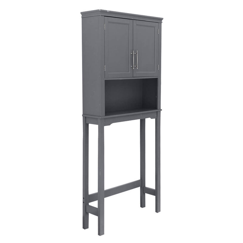 Two-Door Toilet Cabinet Grey