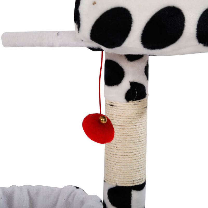 Stable Cute Sisal Cat Climb Holder Cat Tower Black Point, 47 inches